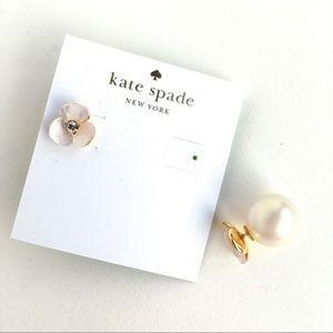 Kate spade disco pansy reversible pearl earrings